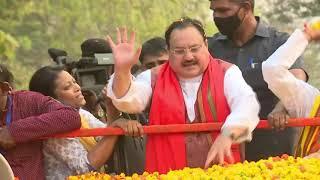 BJP National President Shri J.P. Nadda's roadshow in Paschim Medinipur West Bengal.