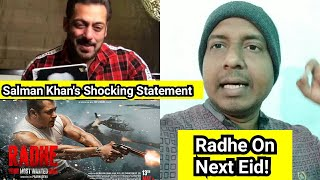Radhe On Next Eid Says Salman Khan But Only On This Condition