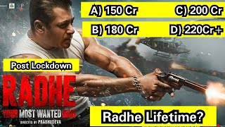 Radhe Lifetime Collection Post Lockdown Era? 150 Cr, 180 Cr, 200 Cr Or 220 Cr Plus, How Much?