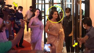 Kangana Ranaut Grand Entry With Full High Security At Thalaivi Trailer Launch