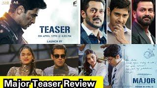 Major Teaser Review, Adivi Sesh Pan India Film, Find Out Salman Khan Connection