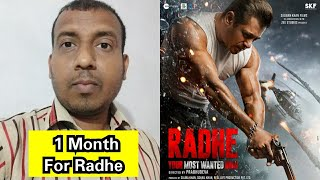 1 Month To Go For Radhe Movie Grand Release On Eid 2021, How Excited Are You Friends?