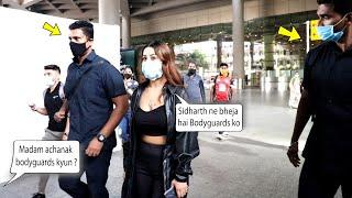 Shehnaaz Gill Stylish Entry at the Mumbai Airport With 2 Bodyguards #SidNaaz