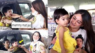 Mahhi Vij gets emotional as daughter Tara Jay Bhanushali cries seeing her leave at the airport