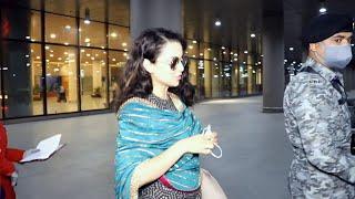 Thalaivi - Kangana Ranaut Spotted At Airport Arrival