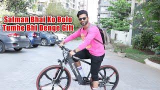 Charming Rahul Vaidya Spotted Riding Salman's Being Human Cycle