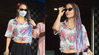 Elli Avram Shows Off New Look, Steps Out In Unicorn Colored Braids, Cargos