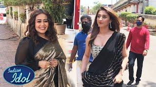 Dhavani Bhanushali Aur Neha Kakkar INDIAN IDOL 12 Ki Shooting Set Par Dikhe