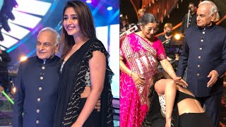 Dhvani Bhanushali Touches Feet Of Music Legend Anandji   Indian Idol 12