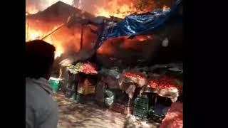 दिल्ली के रानी बाग सब्जी मंडी में आग, Rani Bagh Fire in Sabji Mandi