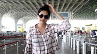 Kundali Bhagya Serial's Actress Anjum Fakih Spotted At Mumbai Airport Traveling To Goa For Shoot