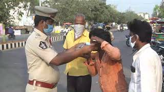 Police awareness drive citizens Covid Norms || masks and social distancing || social media live