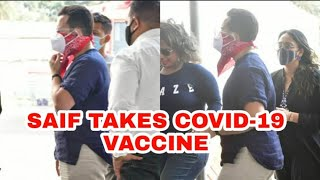 Saif Ali Khan Take The First Dose Of Covid-19 Vaccine   Bollywood News 6-03-2021   @Sach News