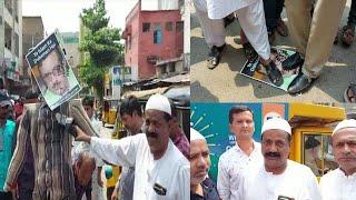 Maloon Waseem Razvi Ka Putla Jalaya Aimim Workers Ne Hyderabad Mein |@Sach News