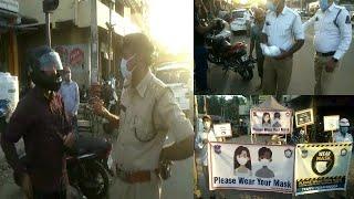 Mask Na Lagane Par Aab Kiya Jayega Challan | Police Ka Public Awarness Program | Amberpet |