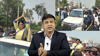 Kya YS Sharmila Karegi Telangana Par Raj ? | Sharmila Ka Road Show Khammam Mein |@Sach News