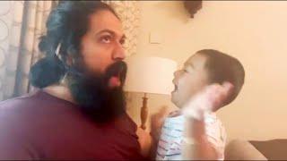 Yash and his son Yatharv cute plying video   Ahyra Yash   Radhika Pandit
