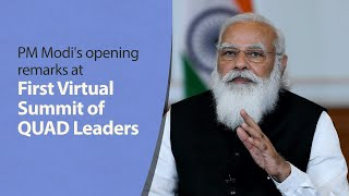 PM Modi's opening remarks at 1st virtual summit of QUAD Leaders | PMO