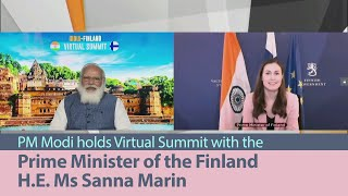 PM Modi holds Virtual Summit with the Prime Minister of the Finland H.E. Ms Sanna Marin | PMO