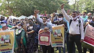 Strike   Goa Bank Employees participate in nation-wide strike, bank services affected