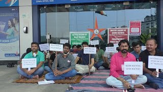 BankBachaoDeshBachao   Bank employees strike continues for second day
