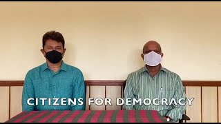 Former AAP Gen Sec Padgaonkar and Convenor Elvis Gomes slam govt over Covid-19
