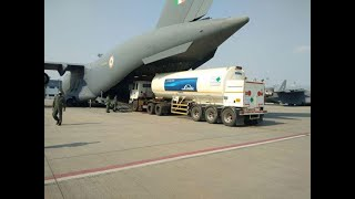 Watch: IAF airlifts oxygen tankers to ramp up supply of oxygen across country