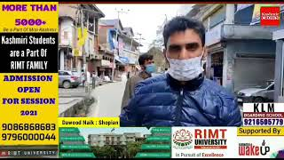 People Starts Wearing Masks At Shopian But Didn't Follow Other SOPs