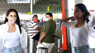 Bindaas Ladki Sara Ali khan Open Shirt Bold look |  Uncles Are Staring Constantly on Sara At Airport