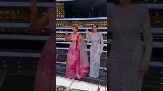 Madhuri Dixit and Nora Fatehi Superb Dance On  Ek Do Teen - Ding Dong song #shorts