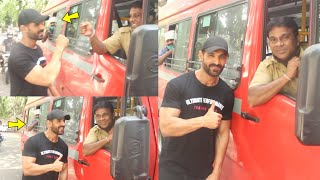 John Abraham Unbelievable Moment With GOVT Bus Driver Who was Passing in front of John home