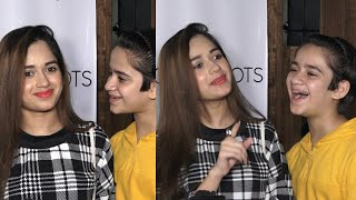 jannat zubair Very Cutest Moment With Brother Ayaan zubair in a Song Release Event