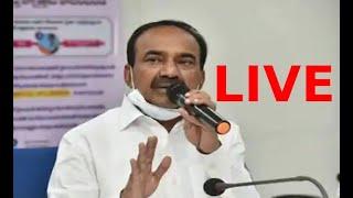 Telangana Minister Eatala Rajender Press Conference on Covid-19    social media live