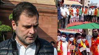 Congress Leaders Rahul Gandhi Ke Sehat Ke Liye Dua Karne Pounchay Bhagyalakshmi Mandir Charminar  