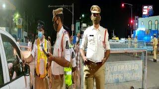 Night Curfew Ke Waqt Bahar Nikalne Walo Ke khilaaf Police Ki Karwayi   Mir Chowk   Hyderabad  