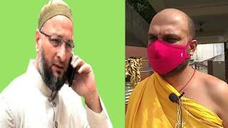 Asaduddin Owaisi Helps Pandit Of Mahankali Temple Lal Darwaza | SACH NEWS |