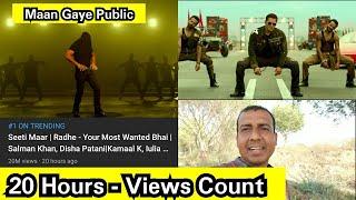 Seeti Maar Song Views Count In 20 Hours, Salman Khan Song Got Good Views In Night, Trending No. 1