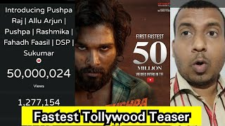 Introducing PushpaRaj Becomes Fastest Tollywood Intro Teaser To Cross 50Million Views In Just 2weeks