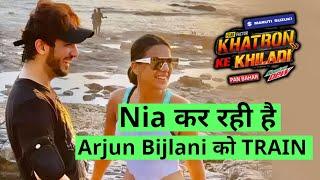 Arjun Bijlani Ko Khatron Ke Khiladi 11 Ke Liya Nia Sharma De Rahi Hai Training