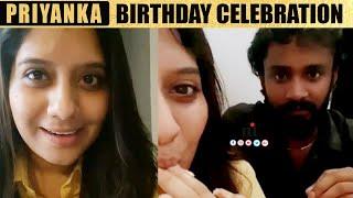 Priyanka Deshpande Birthday Celebration   Vijay TV Priyanka Birthday Celebration