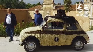This Old Fiat 500 Is Covered In Over 200 Pounds Of Human Hair