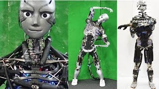 A Freaky Humanoid Robot That Sweats as It Does Push-Ups