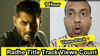 Radhe Title Track Views Count In 1 Hour, Views Already Stuck, Madness Continues