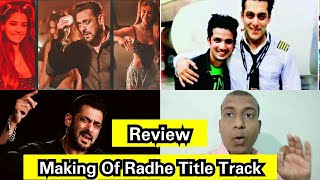 Making Of Radhe Title Track Review, Salman Khan Heroism Is Visible In This Song