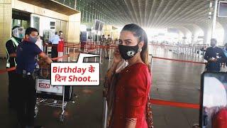 Erica Fernandes Shooting Ke Liye Ravana, Spotted At Airport