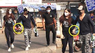 Rahul Vaidya Very Cutely Holds GF Disha Parmar Hand, While Crossing Road, Cute Moment #kkk11