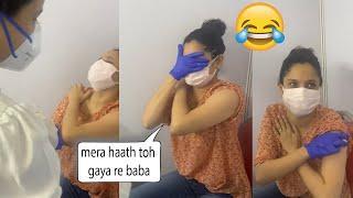 Ankita Lokhande Vey Funny Moment While Taking Vaccination | Aisa kya Hua Ankita Ko