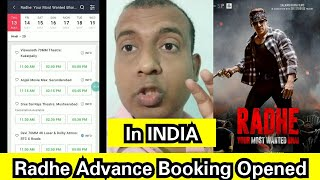 Radhe Movie Advance Booking Opened In India, Big News For Bollywood Lovers