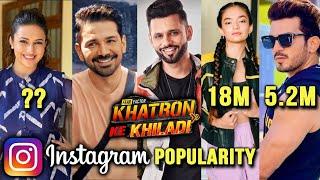 Khatron Ke Khiladi 11 | Kaun Hai Instagram Par Sabse Popular Contestant? | Anushka, Divyanka, Rahul