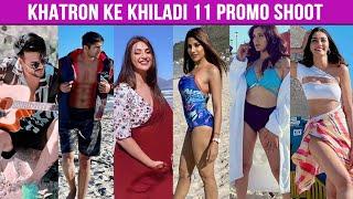 Khatron Ke Khiladi 11 Promo Shoot In Cape Town | Nikki, Divyanka, Mahek, Aastha, Varun, Visha